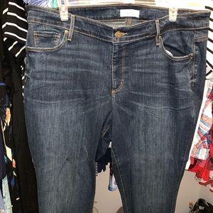 Loft plus Capri jeans